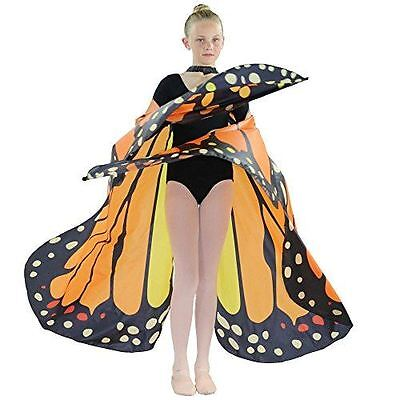 Danzcue Girls Butterfly Belly Dance Angel Worship Angel Wings With Sticks - Butterfly With Angel Wings