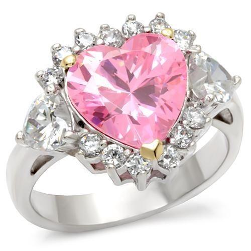 Pink Ice Heart Ring Ebay