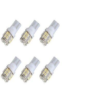 6pcs T10 W5W 194 168 501 Car White 20 SMD LED Inverted Side Wedge Light Bulb 12V