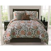 Orange King Comforter Set