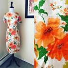 Orange 100% Silk Vintage Dresses for Women