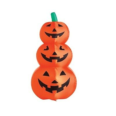 "Inflatable Lighted 3 Pumpkin Halloween Decoration - 48"" Tall"