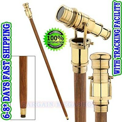 Walking Cane Walking Stick Folding Telescope wooden Walking Stick a1o1