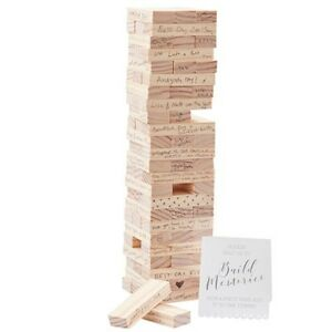 Wedding Decor - Memory Blocks Wedding Guest Book