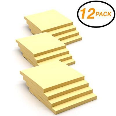 Super Sticky Notes Stick It Stickies Plain Small 3 X 3 Square Yellow Removable