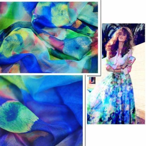 Silk Chiffon Fabric Ebay