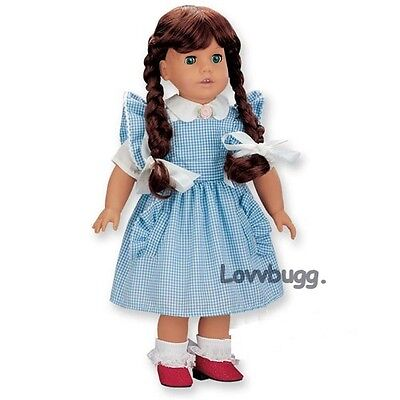 Dorothy Wizard of Oz Costume for 18 inch American Girl Doll Clothes Lovvbugg](Girl Wizard Costume)