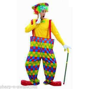 Adultes Hommes 3 Pièces Clown Multicolore Circus