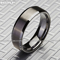 New in Box! Rise Men's 7mm Brushed Tungsten Ring Sz 9-13