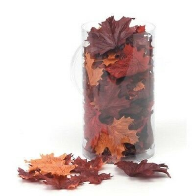100 PIECE SILK SCREEN MAPLE LEAF, BROWN, FALL, HALLOWEEN DECOR, ARTIFICIAL](Maple Leaf Halloween)