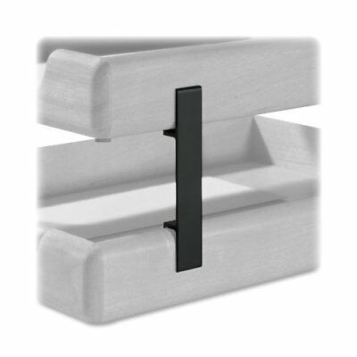 Rolodex Stacking Tray Support - Wood - Black Rol23386