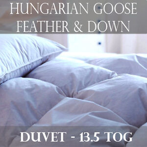 edredon duvet 100 plume oie hongrois de luxe toutes tailles lit 13 5 tog ebay. Black Bedroom Furniture Sets. Home Design Ideas