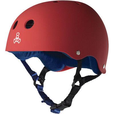 Triple 8 Red Rubber Helmet Blue - Medium
