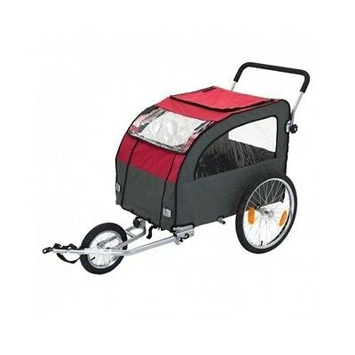 Large Dog Bike Trailer Pushchair Pet Carrier Jogging Kit Cat Bicycle Stroller