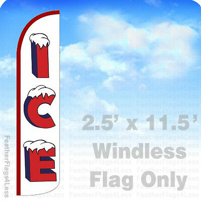 Ice Windless Swooper Flag Feather Banner Sign 2.5x11.5 Wz