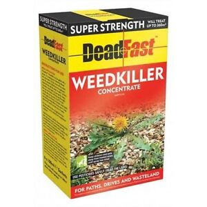 6 X SACHETS OF DEADFAST SUPER STRENGTH GLYPHOSATE WEEDKILLER CONCENTRATE 360M²
