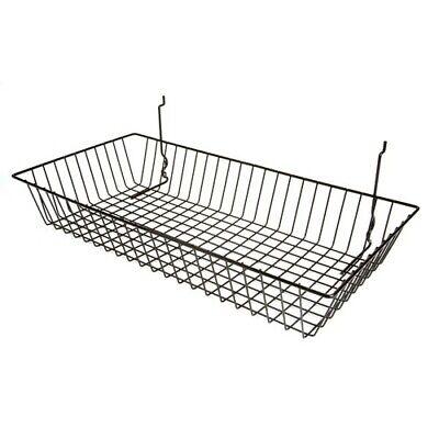Only Hangers 24 X 12 X 4 Basket For Gridwallslatwallpegboard - Black