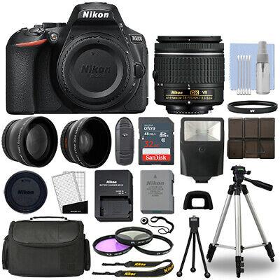 Купить Nikon D5600 - Nikon D5600 Digital SLR Camera Black + 3 Lens: 18-55mm VR Lens + 32GB Bundle