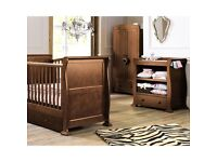 Cot bed, dressing table and wardrobe