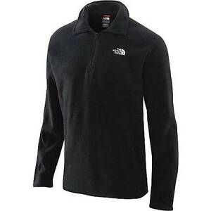 MEN'S LARGE BLACK THE NORTH FACE 1/4 ZIP FLEECE JACKET PULLOVER COAT CIRRIFORM