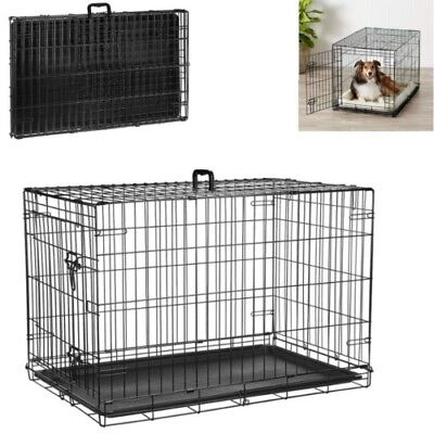 - Large Dog Crate Kennel 36 Inch Huge Size Folding Pet Wire Cage Big Breed Divider