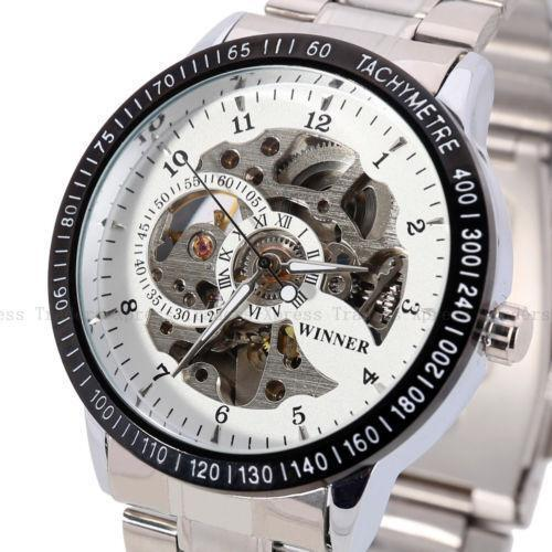 skeleton automatic mechanical mens wrist watches ebay