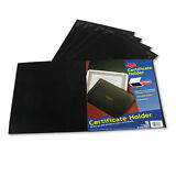 Oxford Certificate Holder, 12-1/2 x 9-3/4, Black, 5/Pack