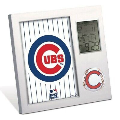 CHICAGO CUBS ~ (1) Official MLB Team Desk Alarm Clock ~ New! Chicago Cubs Alarm Clock