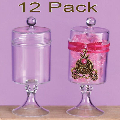 - 12 Fillable Candy Containers Plastic Wedding Favors Quinceanera Recuerdos