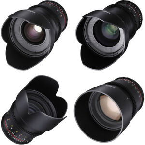 Rokinon Bundle: 24mm, 35mm, 50mm, 85mm T1.5 Cine DS Lens Sony
