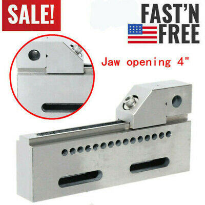 Wire Edm High Precision Vise Stainless Steel 4 100mm Jaw Opening Clamp Tool