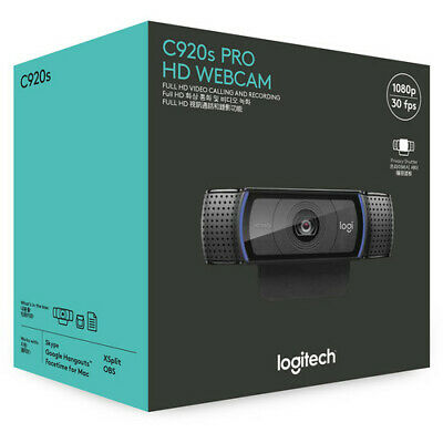 ✅*BRAND NEW SEALED* Logitech C920s Pro Webcam Full 1080p HD + Privacy Cover