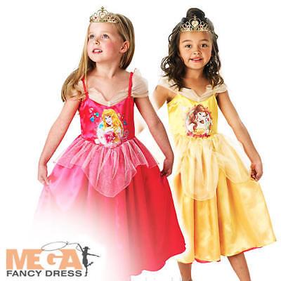 Sleeping Beauty/Belle Reversible Girls Fancy Dress Disney Princess Kids Costume  (Sleeping Beauty Fancy Dress Kostüme)