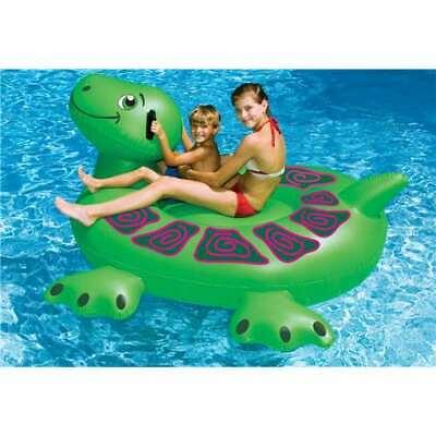 Swimline 90622 Swimming Pool Kids Inflatable Giant Turtle Float 74