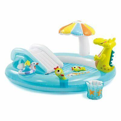 Intex 57129 Alligator Aufblasbarer Pool mit Rutsche 203x173x89 CM