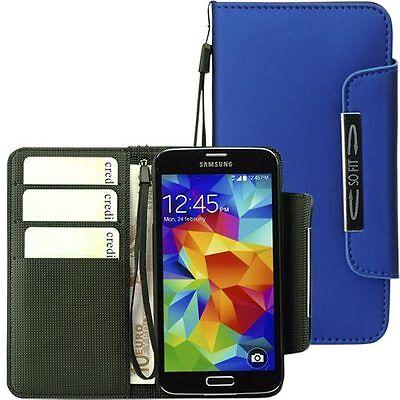Handytasche für Samsung Galaxy S5 Case Etui Hülle Phone  S 5 blau Phone Cases Für Galaxy S5