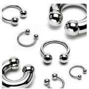 16g Horseshoe Lip Rings