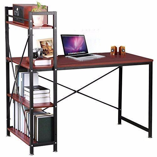 Desk Computer With Bookcase Pc Laptop Office Table