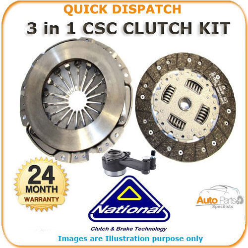 3 PIECE CSC CLUTCH KIT FOR VAUXHALL ZAFIRA 1.6 2005 - 2010 CK9474-10 721