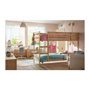 Bunk Bed frame, solid wood, single bed size, price with one mattress