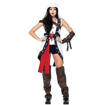 Leg Avenue Adult Womens Connor Girl Assassins Creed Halloween Costume AS85349 - Assassins Creed Costume Womens