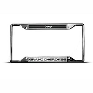 jeep grand cherokee zinc metal license plate frame tag holder. Cars Review. Best American Auto & Cars Review