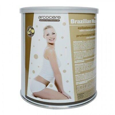 Ceretta Brasiliana-Cera a caldo elastica Resina depilazione-Viso,Bikini- 800ml