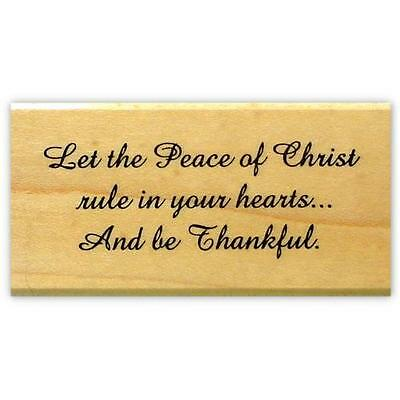 Peace of Christ Christmas quote mounted rubber stamp, Christian sentiment #19 - Christmas Religious Quotes