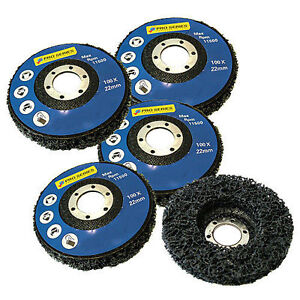5 PACK PAINT RUST REMOVER ABRASIVE POLY WHEEL DISC - 115MM 41/2