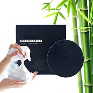 Bamboo Soap Skin Care Handmade Natural Charcoal Whitening Organic Aroma Black