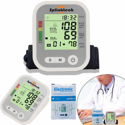 Blood Pressure Monitor Upper Arm Digital Display Health With Voice Function UK