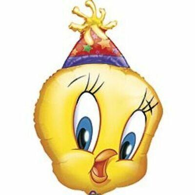 Looney Tunes Party Supplies (XL Tweety Bird Super-Shape Jumbo Looney Tunes Foil Mylar Birthday Party)