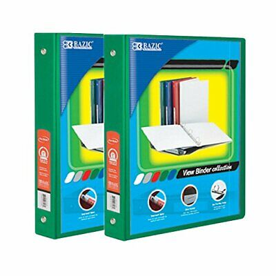 Bazic 1.5 Inch 3-ring View Binder With 2-pockets Case Pack Of 24 Green