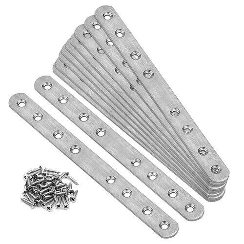 """10 Packs 9⅝""""  Flat Mending Plate Stainless Steel Straight Repair Bracket"""